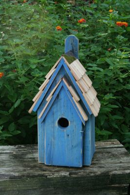 Heartwood Bluebird Manor Bird House - Blue 006G