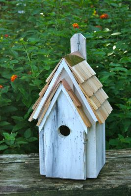 Heartwood Bluebird Manor Bird House - Antique White 006J