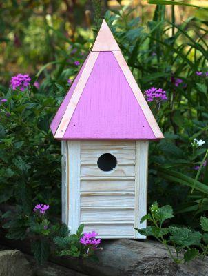 Heartwood Gatehouse Bird House - Pink 089F