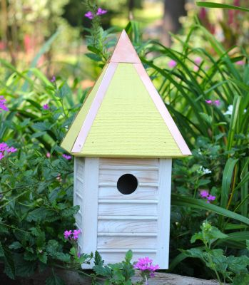 Heartwood Gatehouse Bird House - Yellow 089H