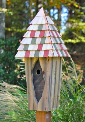 Heartwood Vintage Bluebird - Antique Cypress with multi colored roof 169A
