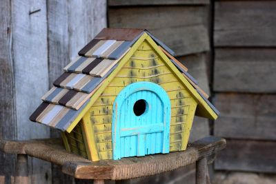Heartwood Prairie Home - Yellow with light blue door 183A