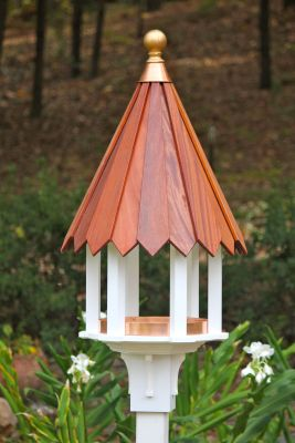 Heartwood Cabana Cafe Bird Feeder - White Cellular PVC/Mahogany Roof 217A