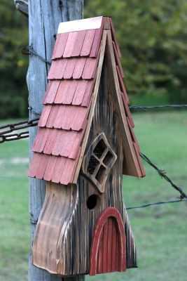Heartwood Ye Olde Bird House - Antique Cypress/Shingled Roof 225A