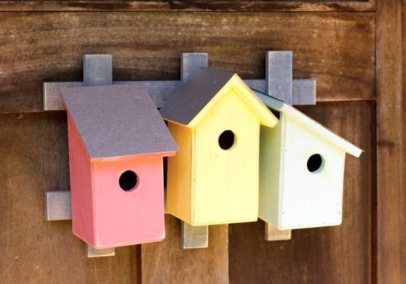 Heartwood Trellis Trio - Pastel Trio  Bird House 233B