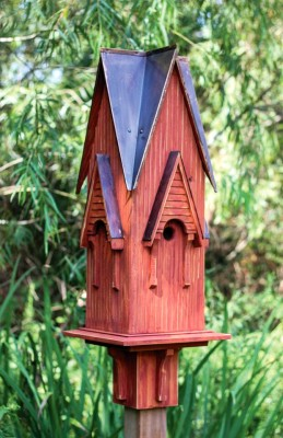Heartwood Westminster Bird House w/ Rustic Red/Brown Patina Roof 235A