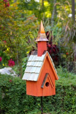 Heartwood Pineywoods Chapel Bird House Rustic Red 239A