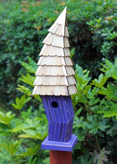 Heartwood Birdiwampus Bird House Purple 247A