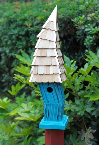 Heartwood Birdiwampus Bird House, Turquoise 247D