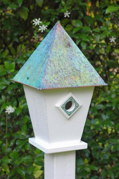 Heartwood Verdi Villa Bird House White PVC 248A