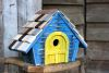 Heartwood Prairie Home - Blue with yellow door 183B