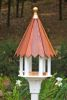 Heartwood Cabana Cafe Bird Feeder - White Cellular PVC/Mahogany Roof 217A