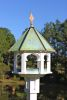 Heartwood Carousel Cafe Feeder - White Cellular PVC/Verdigris Copper Roof 219B