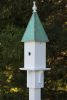 Heartwood Songbird Station - White Cellular PVC/Verdigris Copper Roof 221A