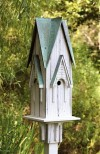 Heartwood Westminster Bird House w/ Antique White/Verdigris Copper Roof 235B