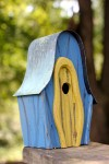 Heartwood LanceLoft Bird House - Blue/Yellow Door 236B