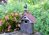 Heartwood Blues Bird Barn Rustic Bird House 243A